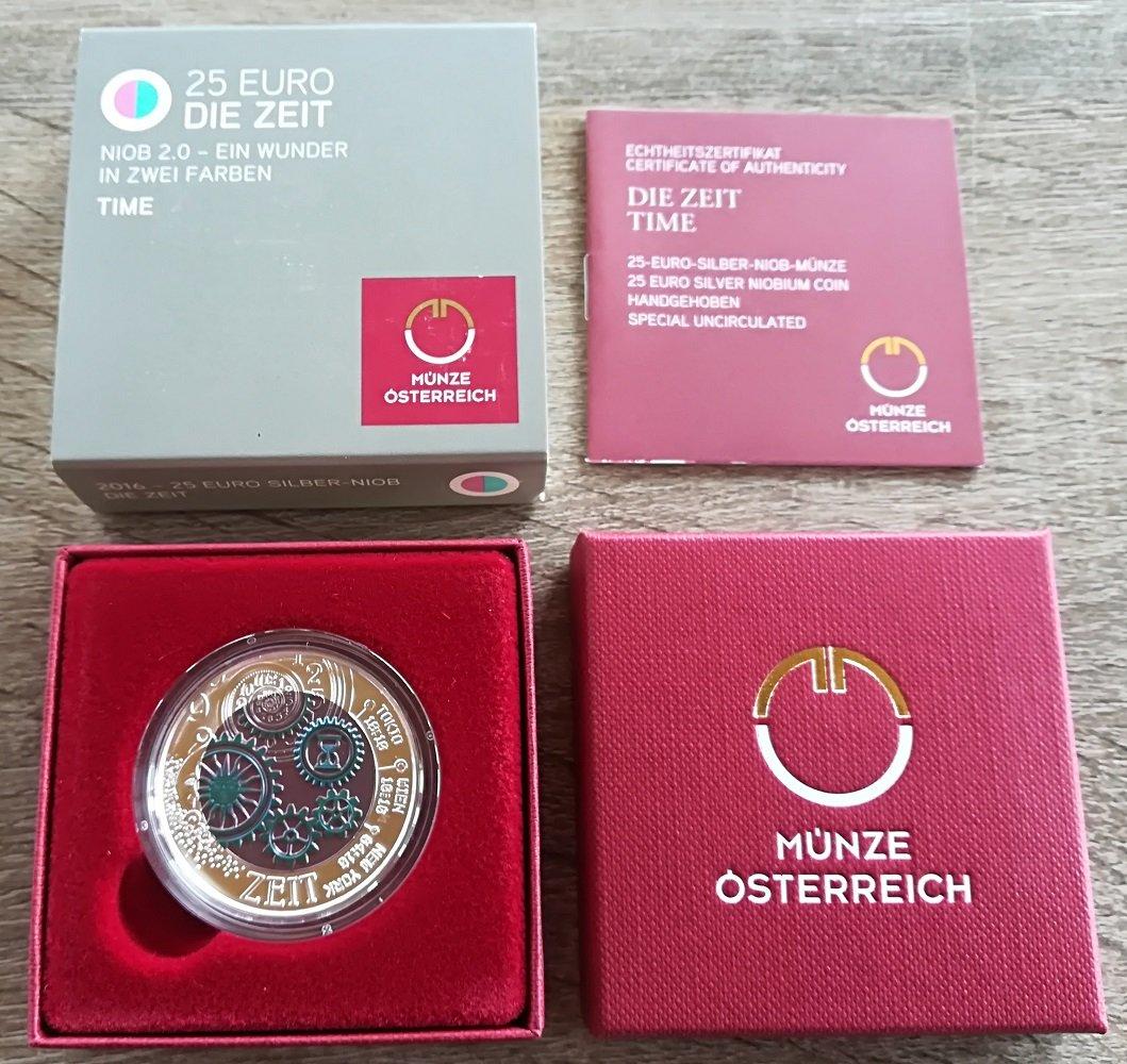 Silber Niob Münze Die Zeit österreich 2016 Amazonde Spielzeug