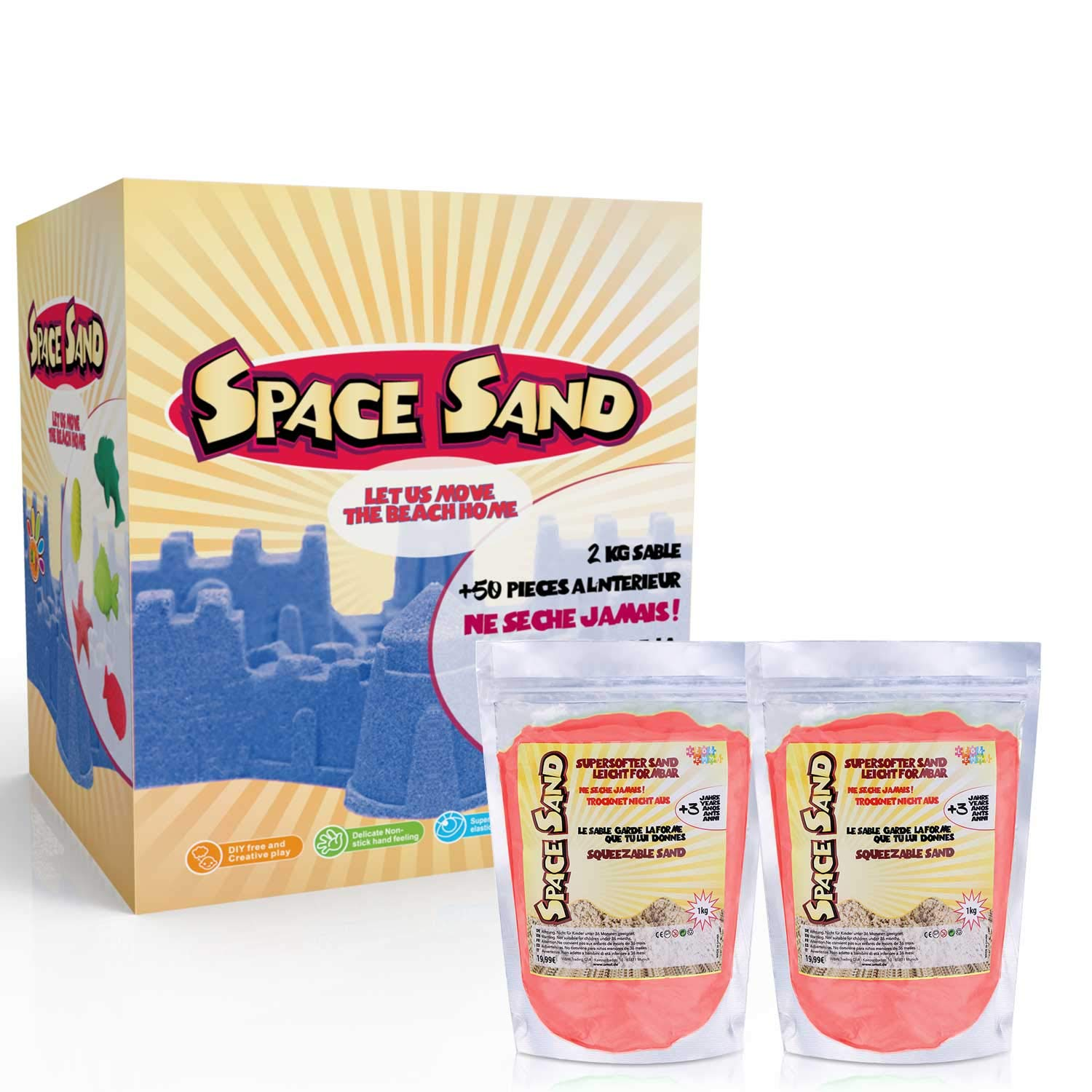 Space Sand UMOI Magic Sand Super Sand Set de Juego con plastilina ...