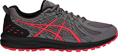ASICS - Frequent Trail - Zapatillas de deporte para hombre, para correr,  Gris (Alerta de carbono/rojo), 41 EU