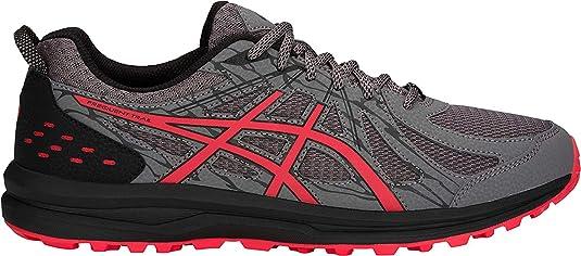 ASICS - Frequent Trail - Zapatillas de deporte para hombre, para correr, Gris (Alerta de carbono/rojo), 41 EU: Amazon.es: Zapatos y complementos