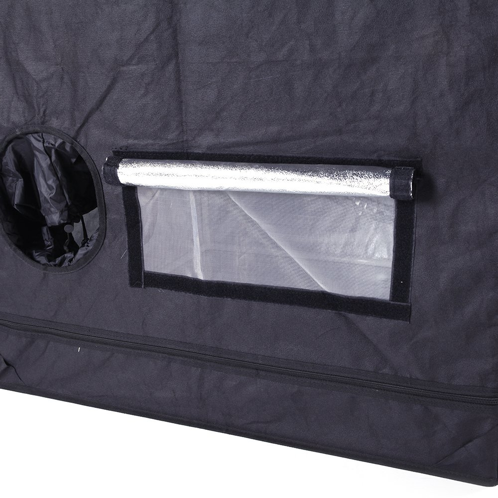Olymstore 32 x 32 x 64-inch Reflective Mylar Hydroponics Plant Growing Tent, GreenHouse, Home Use Dismountable Water-Resistant Black for Indoor Seedling/Plant Growing & Germination by Olymstore (Image #5)