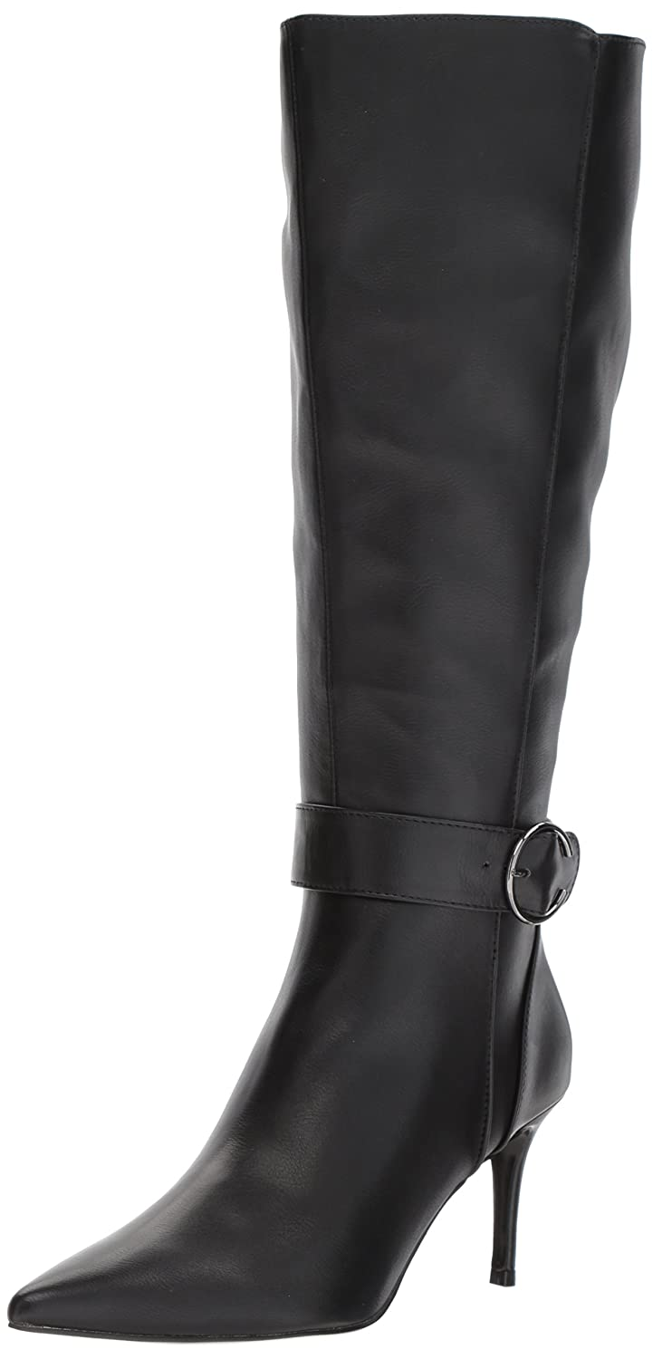 Nine West Women's Moretalknw Synthetic Knee High Boot B071LSKYWM 10 B(M) US|Black Wide Synthetic