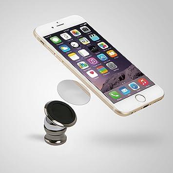 Soporte Magnetico Universal para coche Iman para Movil GPS 360º: Amazon.es: Electrónica