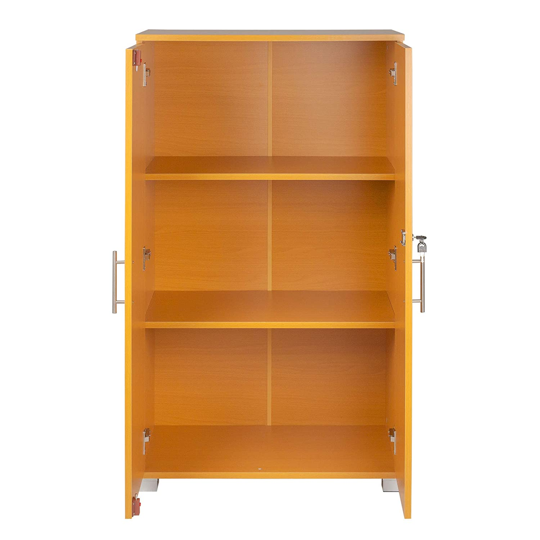 Armario archivador para oficinas, con cerradura, 3 estantes de almacenamiento, de 2 puertas, 700 mm de ancho, gran capacidad de almacenamiento: Amazon.es: ...
