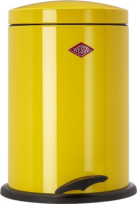 Wesco 116 212-19 Poubelle à pédale (Jaune citron)