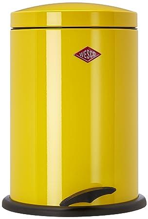 wesco 116 212 19 poubelle pdale jaune citron - Poubelle De Cuisine Jaune