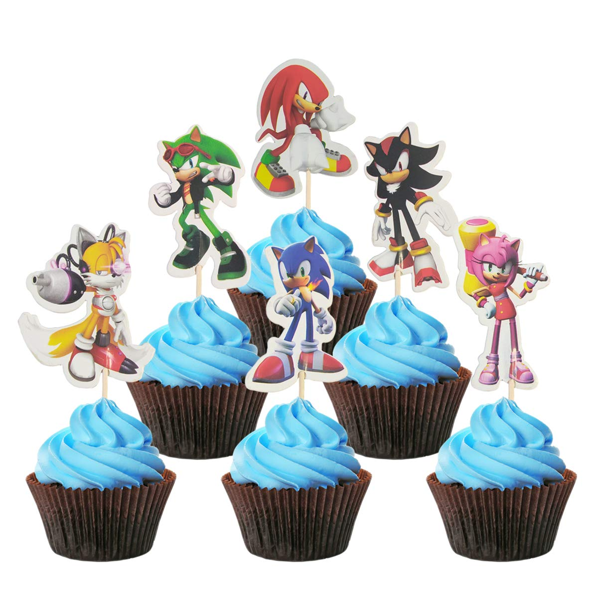 Sonic The Hedgehog Cake Topper For Children S Birthday Party Cake Decoration For Baby Shower Sonic The Hedgehog 48pcs Amazon Com Grocery Gourmet Food