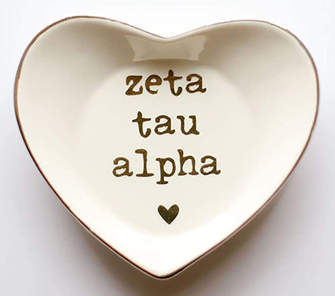 Alpha Kappa Alpha Pink and White Monogram Ceramic Ring Dish