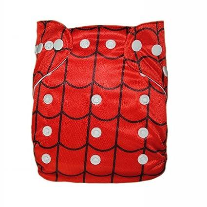 Alva Baby – Pañales de tela reutilizables para 6 – 33lbs bebé con inserciones de dos