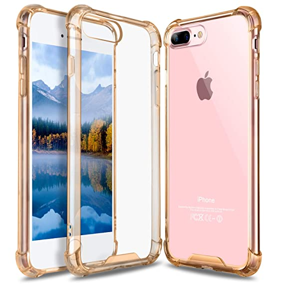 half off c6c69 ae9f2 iPhone 8 Plus Case, iPhone 7 Plus Case, GeekZone Crystal Clear Case Hard  Back Panel TPU Bumper Drop Protection Shock Absorption Technology Case for  ...