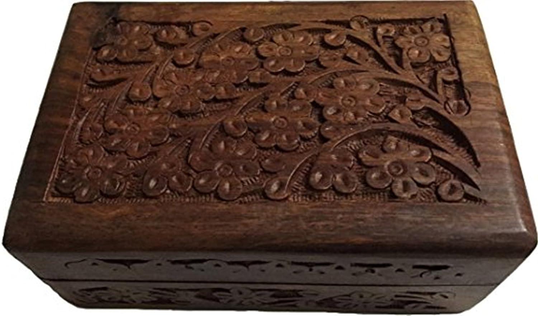 love handmade wooden casket wood jewelry box heart  5.9 x 5.1  x 2.8 Flowers Birch bark box rings box decorative box