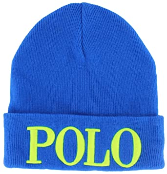 Polo Ralph Lauren Womens Unisex Cashmere Knit Beanie Hat Blue at ... ff089621b