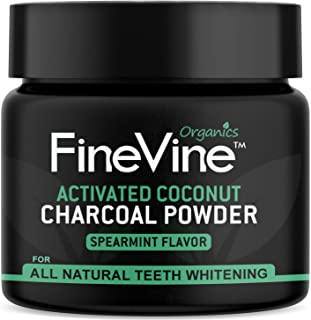 product image for Charcoal Teeth Whitening Powder - Made in USA - Naturally WHITEN Teeth and REMOVES Breath - Best Natural Tooth Whitener Product- (Spearmint) Flavor