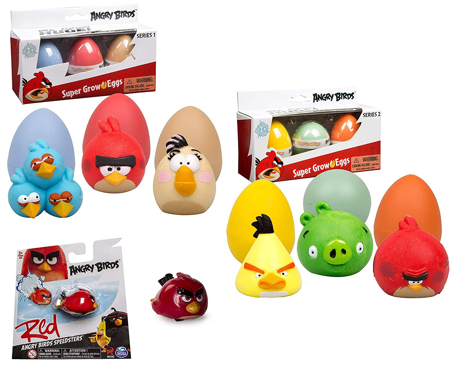 2 /& Red Bird Speedster Racer Bundle STAYB Matilda Super Grow Figures Series 1 Minion Pig Angry Hatch Figure Eggs Chuck Terence The Blues Birds Red