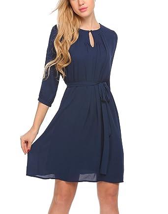 Kleid knielang dreiviertelarm