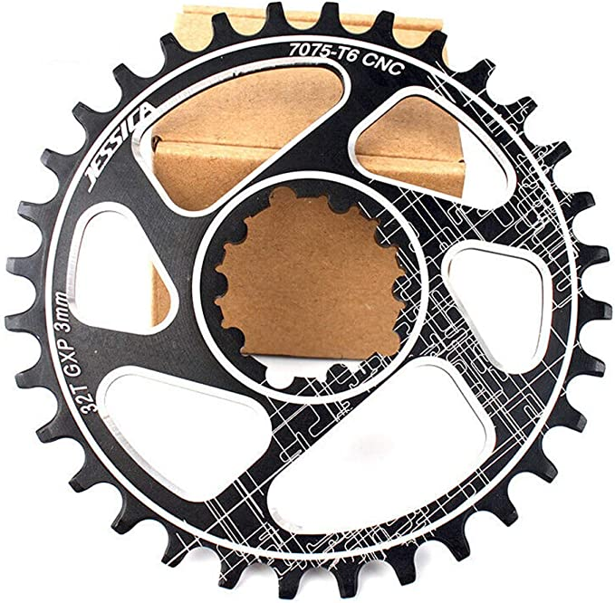 JESSICA 32-38T MTB Bike GXP Crank Offset-3mm Narrow Wide Chainring 7075-T6 Alloy