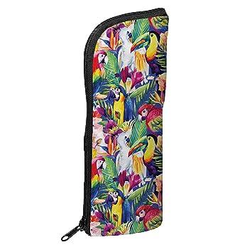 Fringoo - Estuche para útiles escolares (diseño unisex), color Tropical Birds - Transformer: Amazon.es: Oficina y papelería