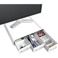 Mind Reader ' Perch' PC, Laptop, iMac Monitor Stand Desk Organizer, White