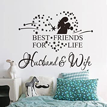 Ussore Husband And Wife Vinyl Decal Bedroom Wall Art Decor For Kids Home Living Room House