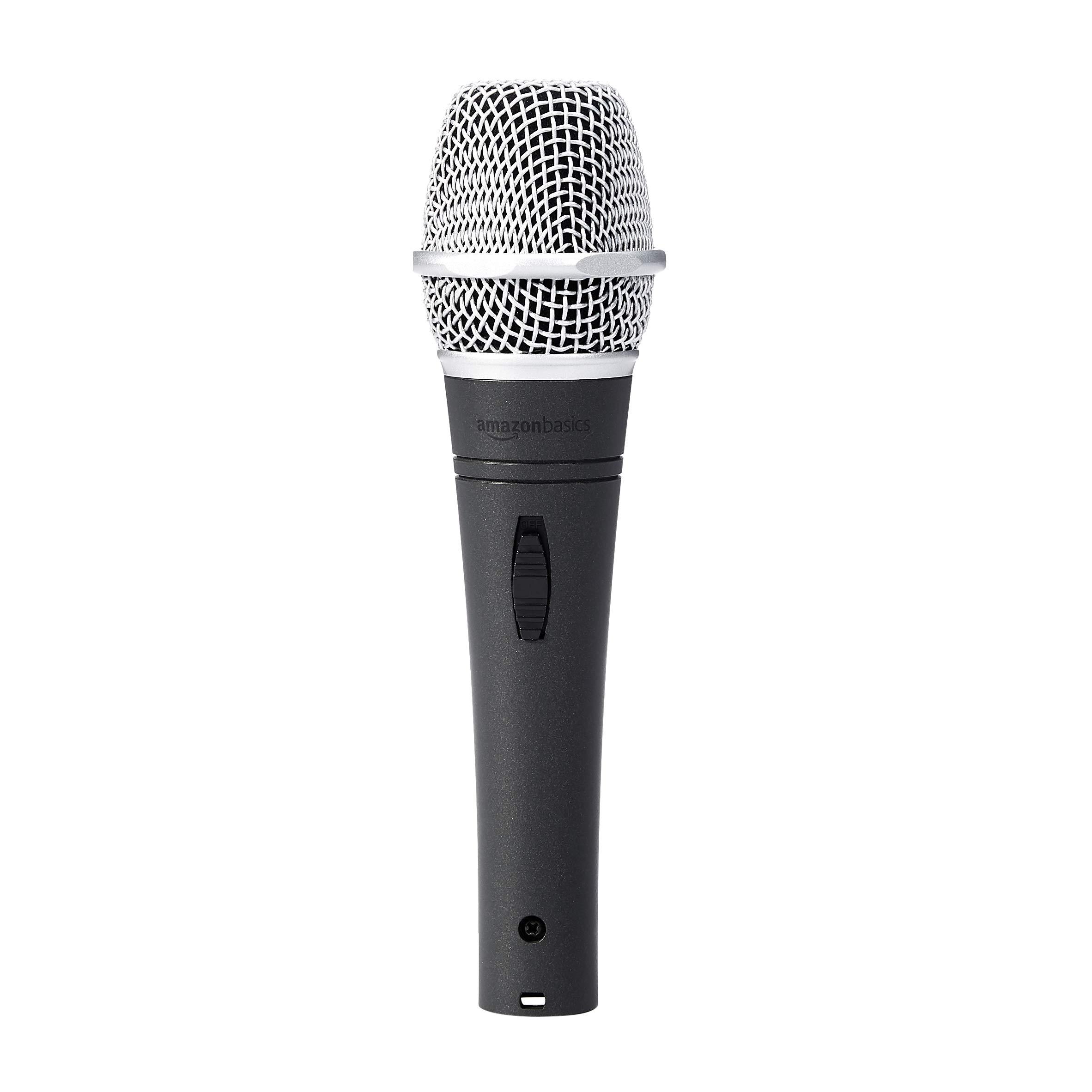 AmazonBasics Dynamic Vocal Microphone, Super Cardioid by AmazonBasics