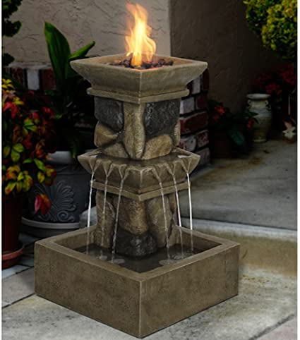 Amazon Com Fire Pit Designs A Decorative Fountain Lp Gas Firepit From Fortune Bliss Us For Your Outdoor Patio Or Deck Area That Goes Great With Your Backyard Dining Furniture Set Sale