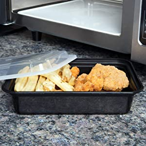 Pactiv [20 Sets] Meal Prep Containers with Lids, Food Storage, Take Out, Lunch Box, Portion Control, Microwave/Dishwasher/Freezer Safe, BPA Free, Factory Sealed, Made in USA (38 OZ - Large)