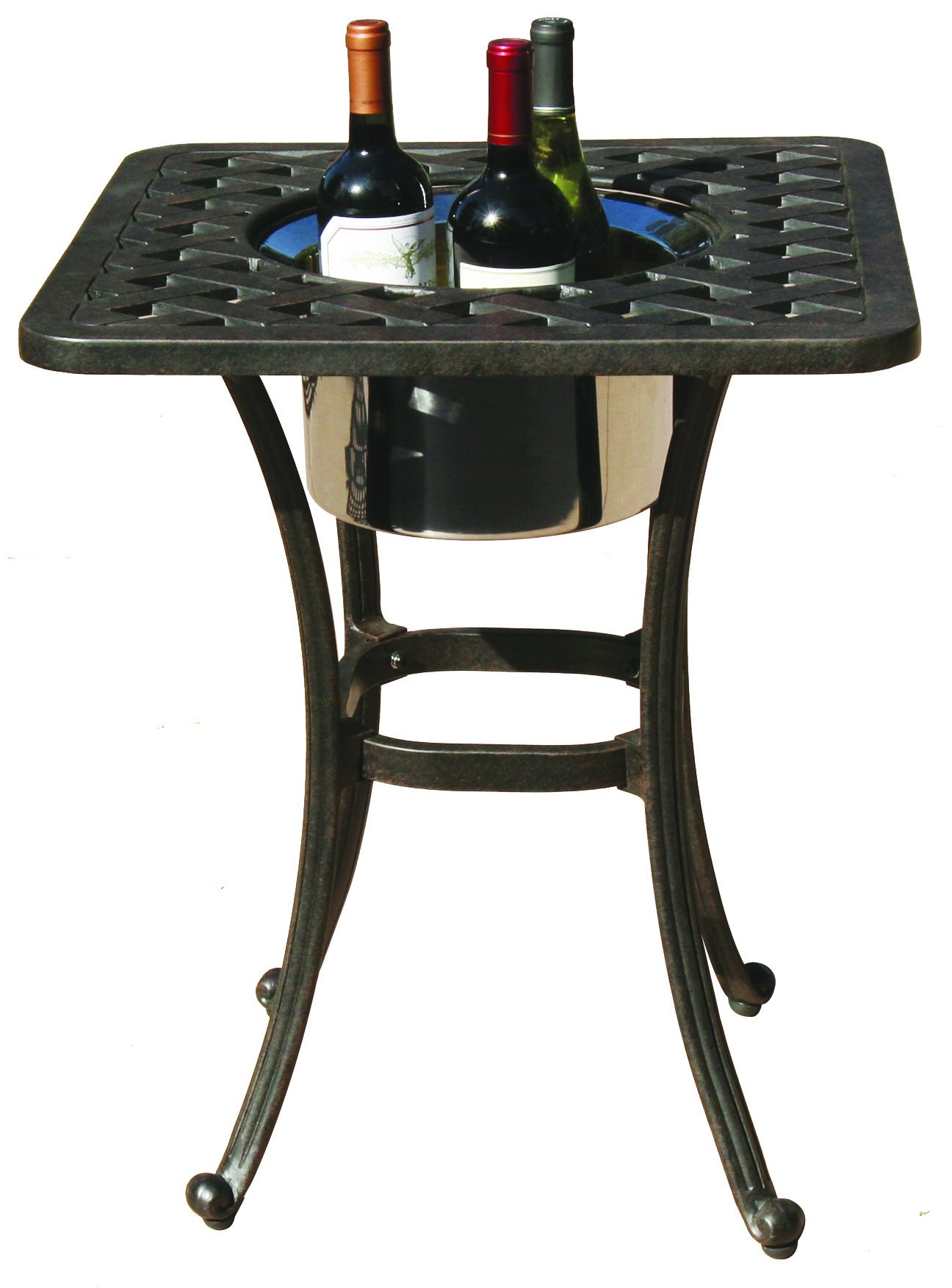 Darlee A/DL30-SQ Series 30 Side Table with Ice Bucket Insert, 21'' Round