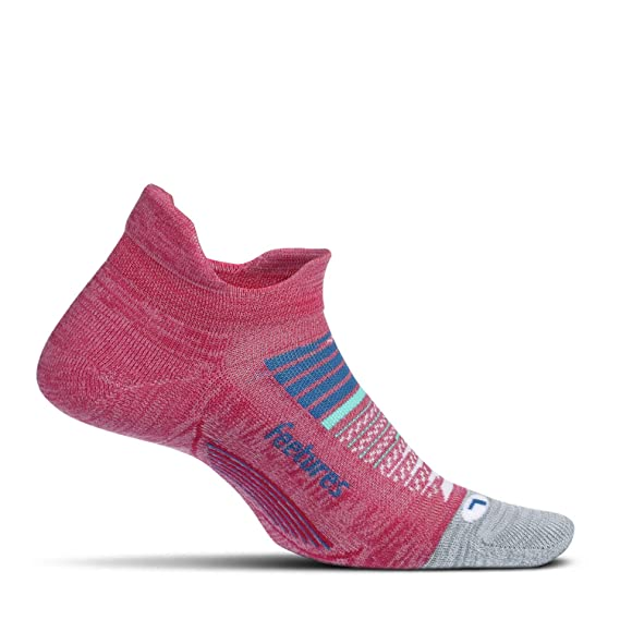 Feetures Elite No Show Tab Womens Ladies Pink Blister Free Running Gym Socks
