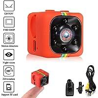 Crazepony-UK Mini Camara Espias SQ11 Camcorder 3.6mm Night Vision FOV140 Mini Camera Spy 1080P HD Sports Micro Camera DVR Video Recorder by (Plastic Shell)