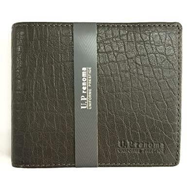 970043c6acda Amazon   [ユーピーレノマ] U.P renoma 牛革二つ折り財布 グリーン   財布