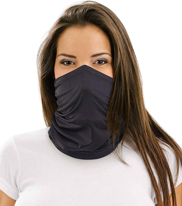12 in 1 Multifunctional Neck Gaiter, Face Scarf Headwear for Unisex Men &  Women Black at Amazon Men's Clothing store