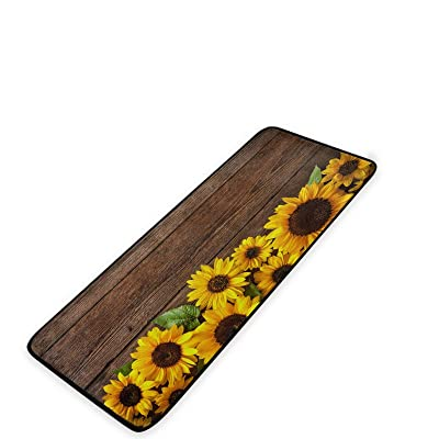 Buy Country Style Sunflower Kitchen Mat Carpet Bedroom 39 X 20 Kitchen Anti Fatigue Mat Cushioned Kitchen Mat Kitchen Runner Mat Kitchen Comfort Mat Yellow Online In Turkey B08zccy6zj