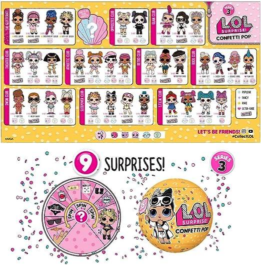 Amazon.es: L.O.L. Surprise! - Confetti POP, 1 unidad (Giochi Preziosi LLU10000) [modelos surtidos]: Juguetes y juegos
