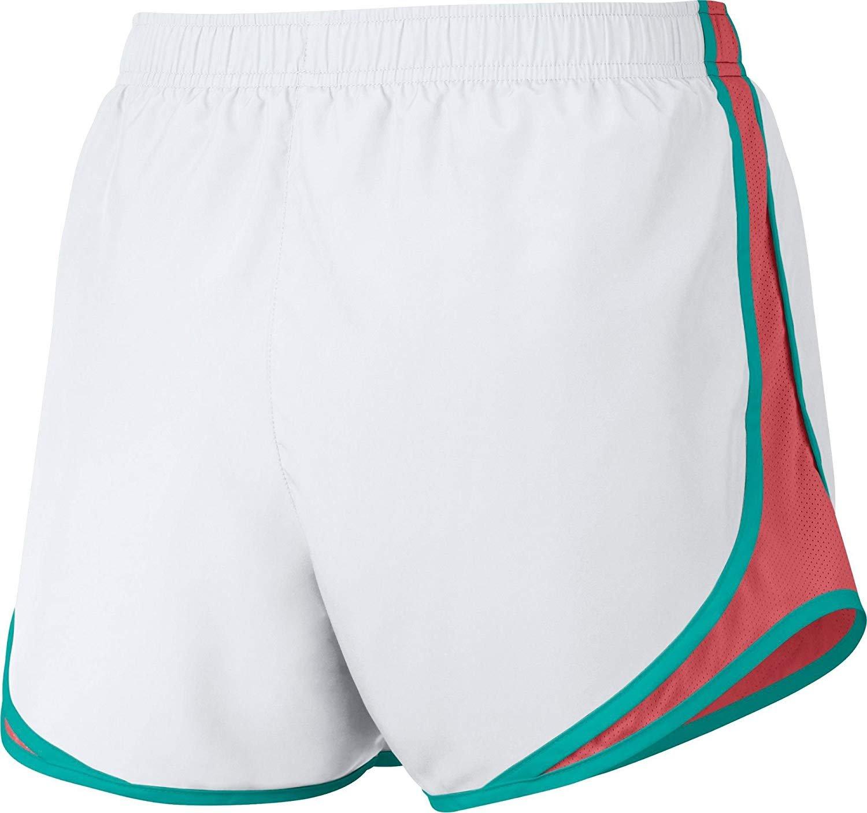 Women's Nike Dry Tempo Running Short (White/Sunblush/V/Ltfusred, Large) by NIKE (Image #3)
