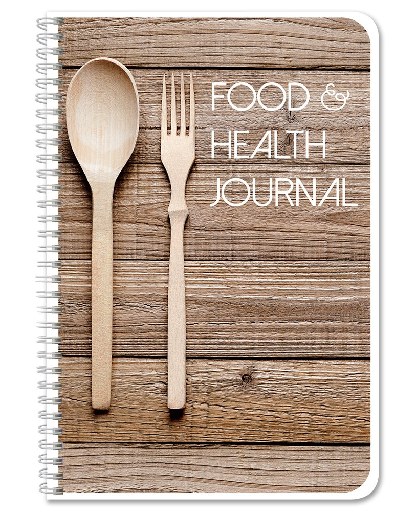BookFactory Food and Health Journal/Food Diary/Fitness Journal Notebook, 186 Pages - 6'' x 9'' Durable Thick Translucent Cover, Wire-O Binding (JOU-186-69CW(FoodJournal)) by BookFactory