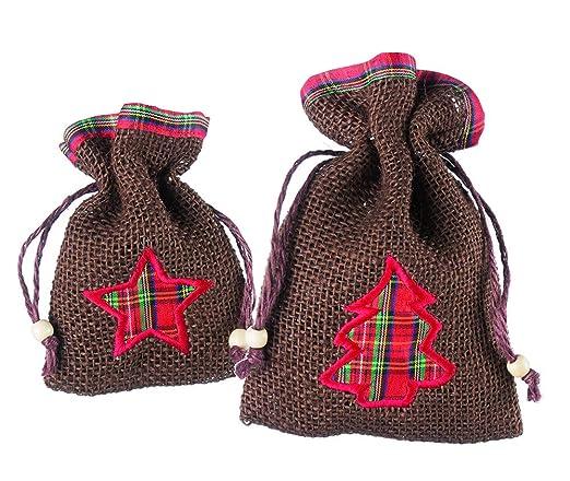 CREOFANT - 12 Bolsas de Regalo de Yute: Amazon.es: Hogar