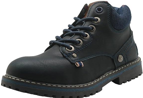 Apakowa Kurzschaft Herren Stiefel Combat Boots Klassische Stiefel (Color :  DarkBlue2, Size : 12.5 UK/31 EU): Amazon.de: Schuhe & Handtaschen