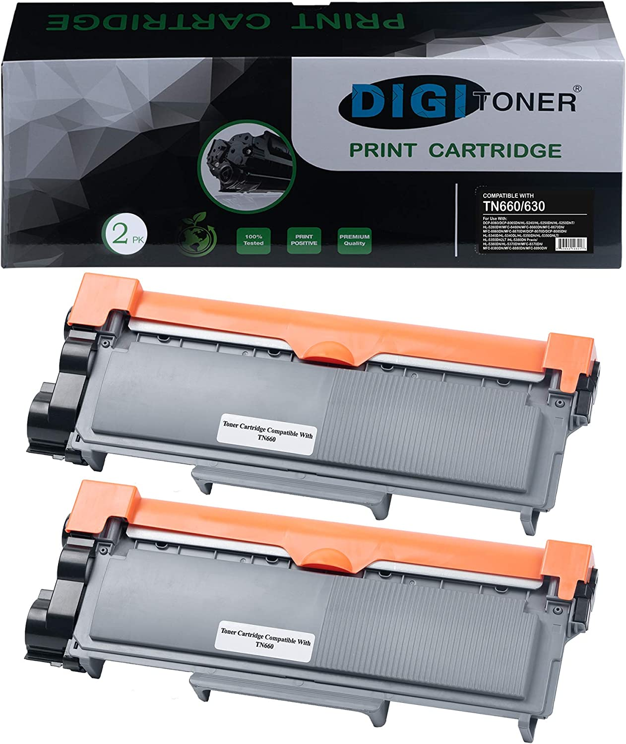 No-name Compatible 1 Pack High Yield Black Full Toner Cartridge with Drum Unit Replacement for Brother TN-630 TN-2320 TN-2350 TN2360 MFCL2700D MFCL2703DW MFCL2720DW MFCL2740DW HL-L2360DN HL-L2360DW