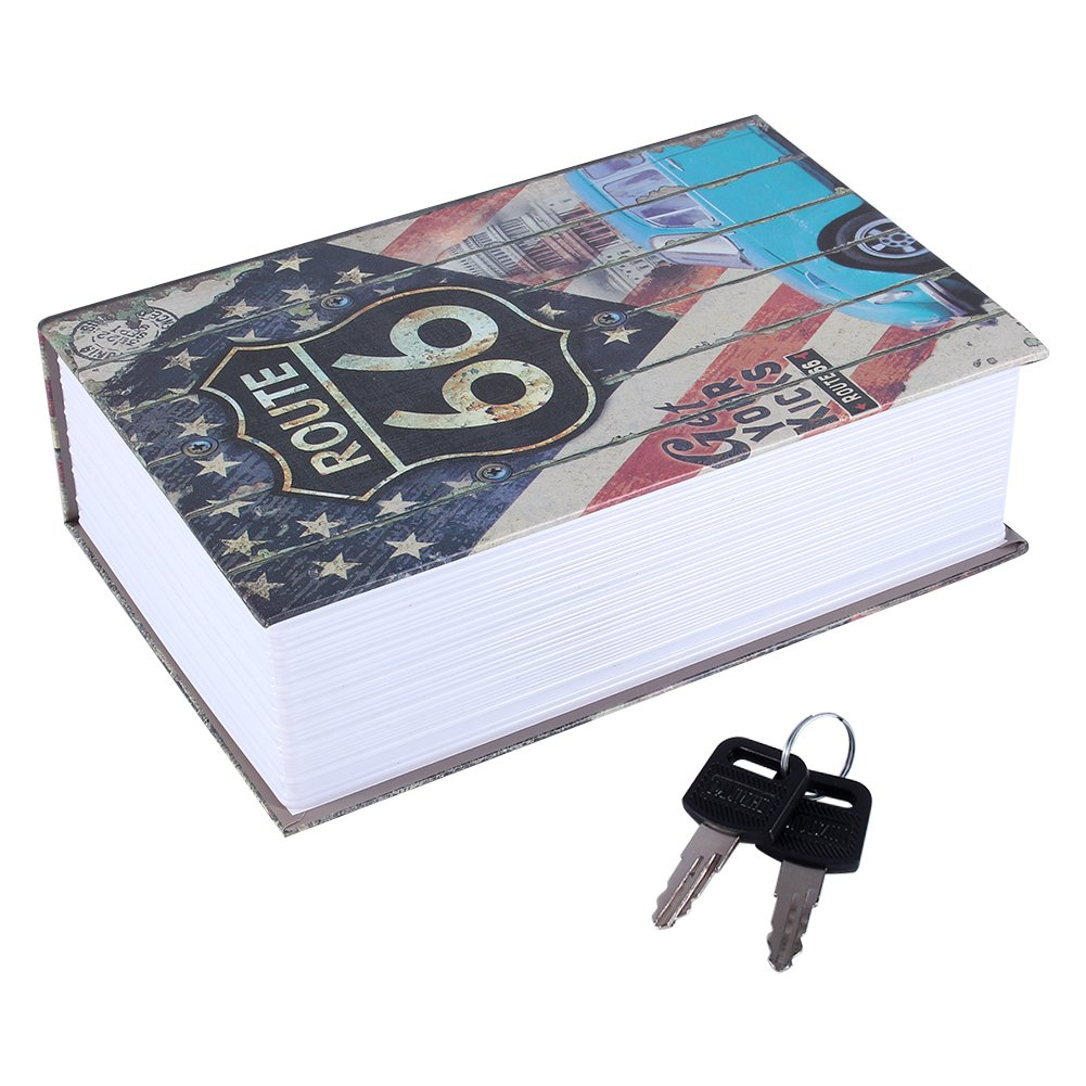 意大利款 Cassetta di sicurezza,Haofy libro del libro Nascosto libro di diversione sicuro con combinazione