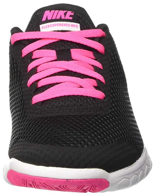 Amazon.com | Nike Girls Flex Experience 5 (GS) Running Shoe Pink Blast/Black/White Size 6 M US | Athletic