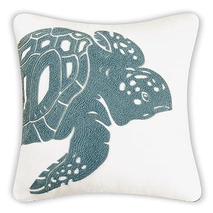 Beautiful Amazon.com: Sea Turtle Decorator Pillow, Sea Green and White: Home  CS88