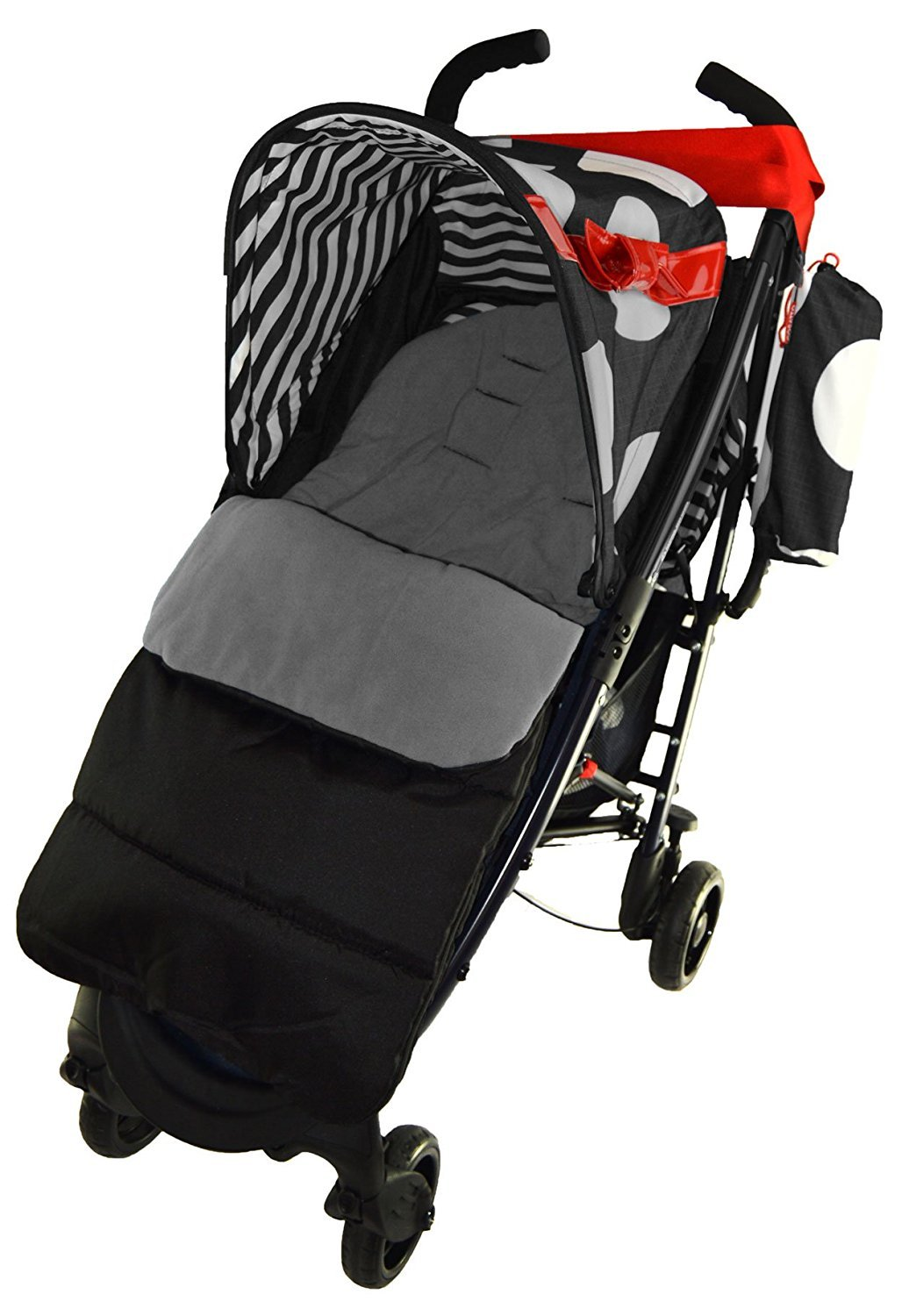 Cosy Toes Compatible with Graco Metro Pushchair Black Deluxe Footmuff