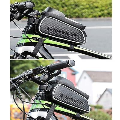 Waterproof MTB Mountain Bike Frame Front Bag Mobile Phone Holder Pannier Bicycle