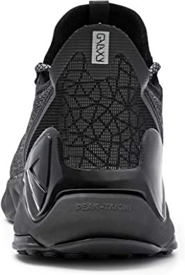 Womens Peak Taichi Natural Black Mesh Knit Breathable White Running ... E92558 Details about  /