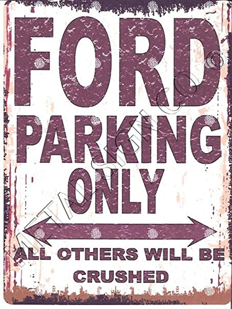 SCOOTER PARKING METAL SIGN RUSTIC VINTAGE STYLE 8x10in 20x25cm garage