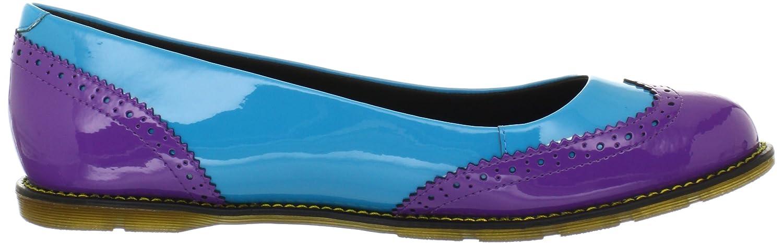 Dr. Martens Women's Ceri Brouge Pump B0091CNXQQ 3 UK/5 M US|Bright Purple/Sunny Blue