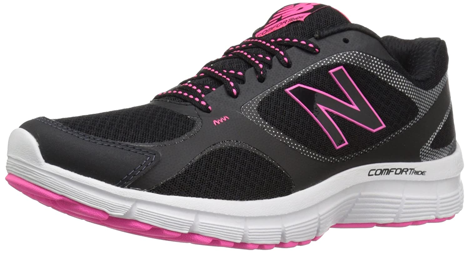 New Balance Women's 543v1 Comfort Ride Running Shoe B0195INJ46 5.5 B(M) US|Black/Amp Pink
