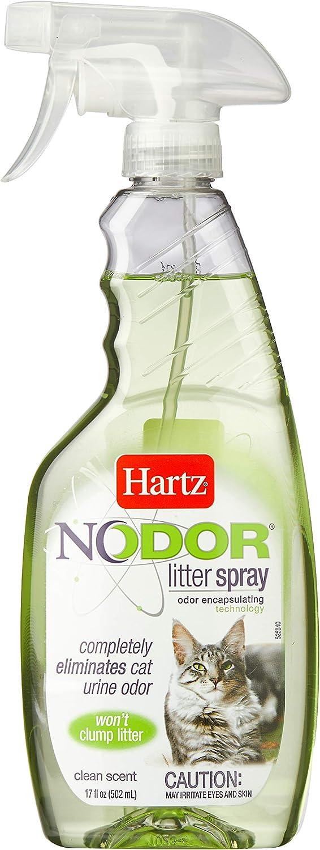 Amazon Com Hartz Nodor Scented Cat Litter Spray 17oz Pet Supplies