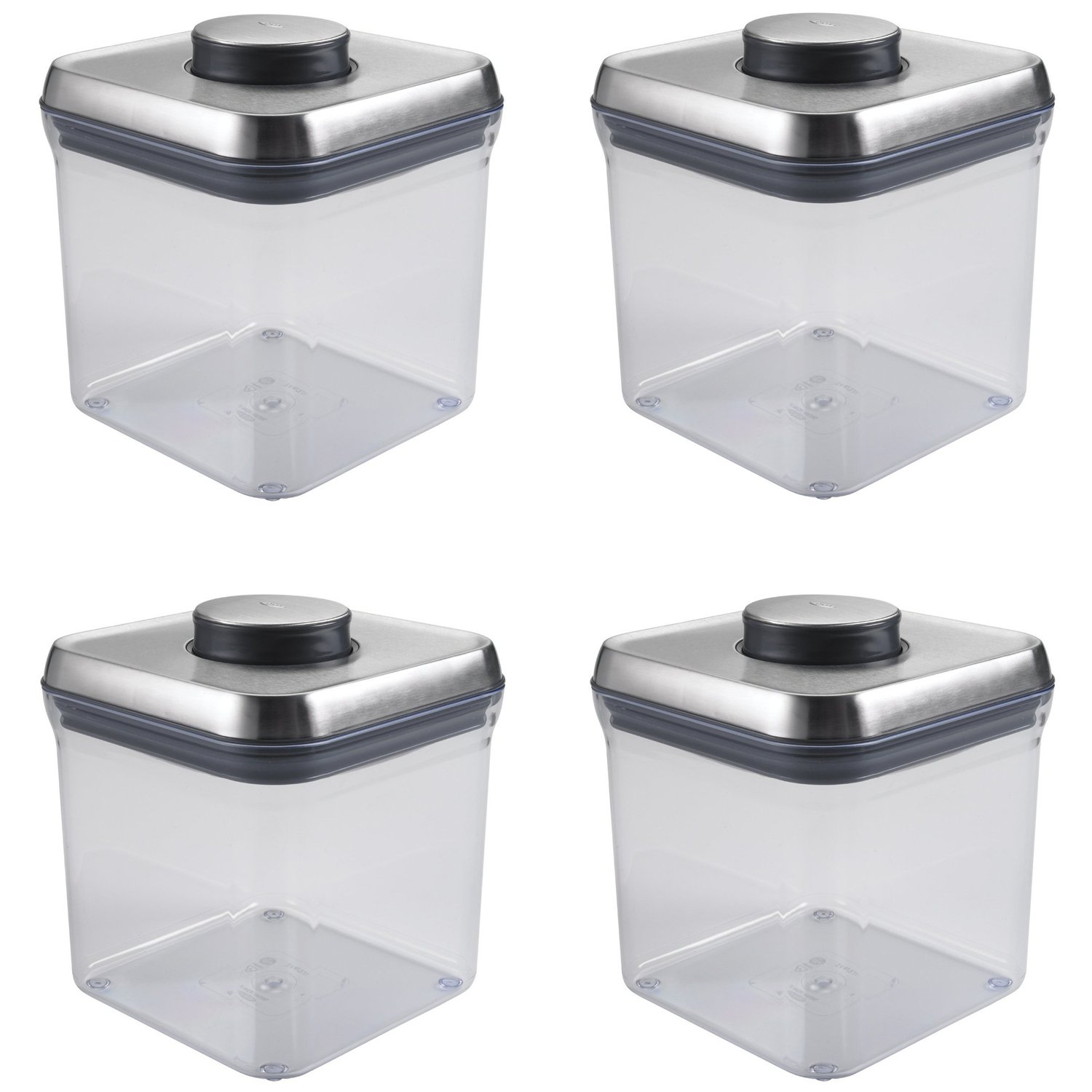OXO SteeL POP 2.4-Quart Square Container (Set of 4) by OXO