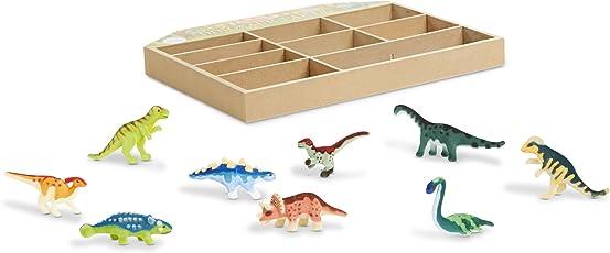 Melissa & Doug Set de Figuras - Fiesta de Dinosaurios - 9 Dinosaurios Miniatura Coleccionables en una Caja